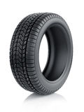 Winter tyre with metal spikes Stock Photos