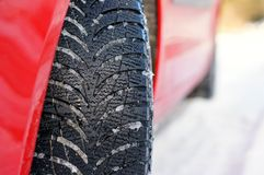 Winter tyre Royalty Free Stock Photos