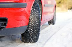 Winter tyre Stock Image