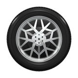 Winter tyre with snowflake shaped drive wheel Royalty Free Stock Photo