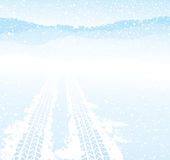 Winter tyre track Royalty Free Stock Photography