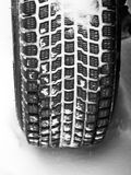 Winter tyre on a vehicle Stock Photography