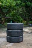 Winter tyre wheels Stock Image