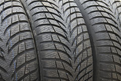 Winter tyres. New winter tyres ready for use Royalty Free Stock Photography
