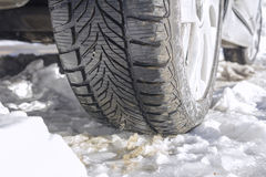 Winter tyres Stock Photography