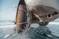 Winter tyres Royalty Free Stock Images