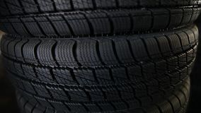 Winter tyres stock video