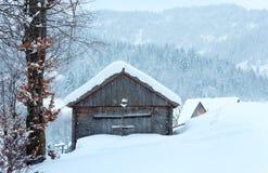 Winter Ukrainian Carpathian Mountains landscape. Royalty Free Stock Photo