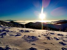 Winter Ukrainian Carpathians Stock Photography