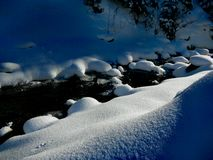 Winter Ukrainian Carpathians Stock Image