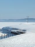 Winter und See Lizenzfreies Stockbild