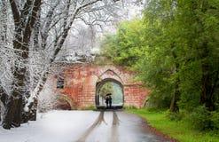 Winter und Sommer in einem Rahmen Stockfotografie