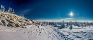 Winter und Sonne Stockfoto