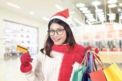 Winter- und Weihnachtseinkaufskonzept Lizenzfreie Stockfotografie