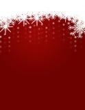 Winter-und Weihnachtshintergrund mit Schneeflocken Lizenzfreies Stockfoto