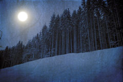 Winter unreal landscape Royalty Free Stock Image
