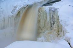 Winter, Upper Tahquamenon Falls Stock Photo