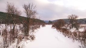 Winter in the Ural mountains. Russia. Bashkortostan. aerial view. Winter in the Ural mountains. Russia. Bashkortostan stock footage