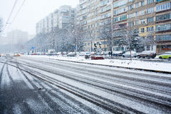 Winter urban lanscape Royalty Free Stock Photos