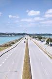 Winter of Uruma sea road Royalty Free Stock Image
