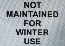 Winter Use Sign Royalty Free Stock Photos