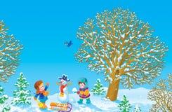 Winter vacation stock illustration