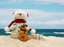Winter vacation getaway Stock Images