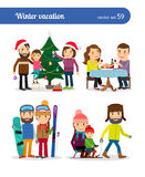 Winter vacation people Stock Photography