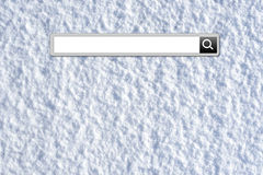 Winter vacation search bar Stock Photo