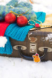Winter vacation travel tips Royalty Free Stock Images