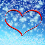 Winter valentine Stock Images