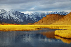 Winter valley landscape Stock Photography