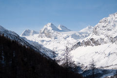 Winter in the valley of Rhemes Royalty Free Stock Photo