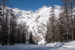 Winter in the valley of Rhemes Royalty Free Stock Image