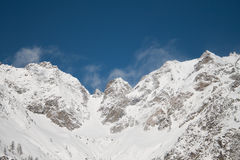 Winter in the valley of Rhemes Royalty Free Stock Images