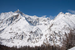 Winter in the valley of Rhemes Stock Images