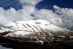 /winter van Castelluccio landschap Royalty-vrije Stock Fotografie