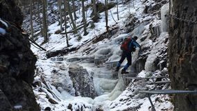 Winter in Piecky gorge , Slovensky raj National park , Slovakia Stock Images