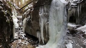 Winter in Piecky gorge , Slovensky raj National park , Slovakia Stock Photos