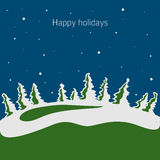 Winter vector. Happy holidays card Royalty Free Stock Images