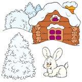 Winter (vector clip-art). Vector clip-art / children's illustration for your design Stock Photography