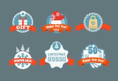 Winter vector discount labels Royalty Free Stock Image