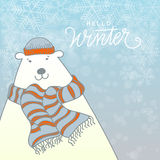 Winter Vector Illustration Royalty Free Stock Photo
