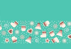 Winter Christmas vector icons, elements and illustrations stock illustration