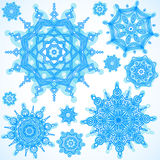 Winter vector set with snowflakes. Stock Photo