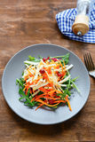 Winter vegetable salad on plate Royalty Free Stock Images