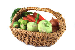 Winter Vegetables In A Basket Stock Image