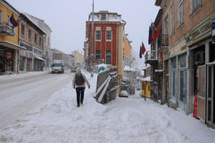 Winter in Veliko Tarnovo Royalty Free Stock Photo