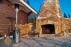 Winter verandah royalty free stock images