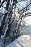 Winter verlassene Straße Lizenzfreies Stockfoto